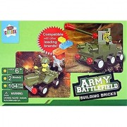 2n1 Army Battlefield Tanks Building Bricks Compatible with Lego - 104 piece Set