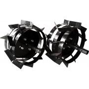 Set roti metalice, 40 cm, pentru motocultor, Rotakt