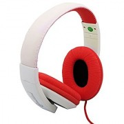Connectland CL-AUD63080 Over the Ear Stereo Wired Headphone White/Red