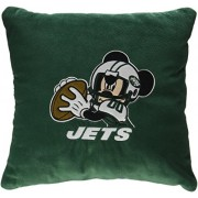 New York Jets NFL and Disney's Mickey Mouse Plush Toss Pillow (16in x 16in) by Northwest
