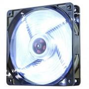 NOX CoolFan Ventola da 12 cm a LED Bianco, Nero