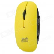 Mini Mouse Style Music Player w/ TF / MP3 - Black + Yellow (Max. 32GB)