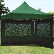 Profizelt24 Faltpavillon 3x3m dunkelgrün Klappzelt, Partyzelt, Gartenzelt, Faltzelt