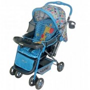 Polly's Pet Reversible Baby Stroller Giraffe Printed 2051 Blue
