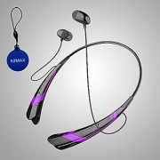 EZMAX Bluetooth 4.0 Stereo Headset for Samsung iPhone iPad LG HTC Smartphone Tablet - Wireless Mobile Phone Headphone Sp