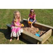 2m x 1m Wooden 27mm Sand Pit 429mm Depth