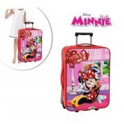 4029151 Trolley viaggio Disney Minnie rosso 35 x 55 x 20 cm