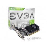 Placa video EVGA nVidia GT 610 2GB DDR3 - 02G-P3-2619-KR