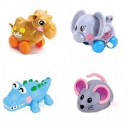 4pcs/Lot Wind Up Toy Wind Up Animal For Baby, Toddler And Kid (Camel + Elephant + Crocodile + Mouse)