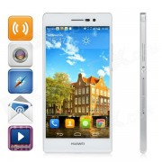 "Huawei Ascend P7 Android OS 4.4 Quad-core Bar Phone w / 5.0 "", appareil photo 13MP, RAM 2 Go, 16 Go ROM - Blanc"