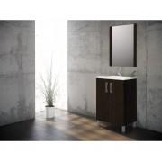 Ensemble de salle de bain ECO meuble wengé 60 cm - 2 portes