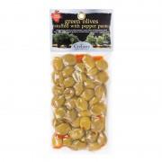 Krétské zelené olivy plněné paprikou CreTasty 250g