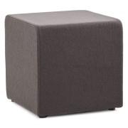 Petit pouf 'CAYOU' en forme de cube en tissu gris foncé