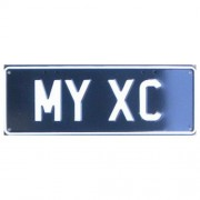 """""""Novelty Number Plate - My XC White On Black"""""""