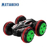 Metakoo Off Road RC Car Amphibious Remote Control Car Stunt Car for 360 Spinning & Flip Double Sided Driving Electric Race Car for both Land & Water Road