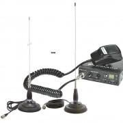 Kit Statie radio auto CB Midland Alan 100 + Antena PNI ML100/ML145