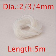 Generic 3x5mm : Free Shipping 5m Silicone water pipes water cooling tubes spare parts for RC Gasoline boat Methanol ship 4*7mm 3*5mm 2*4mm