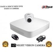 Dahua HDCVI DH-HCVR4104C-S2 4CH DVR And Dahua HDCVI DH-HAC-HDW1000RP Dome Camera 1Pcs Security System