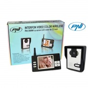 Interfon video color wireless model PNI 3509W cu ecran LCD de 3.5 inch (PNI)