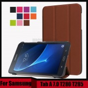 3 in 1 Folio stand PU leather magnetic cover case for Samsung Galaxy Tab A 7.0 T280 T285 SM-T280 SM-T285 + Screen Film + Stylus