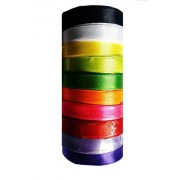 BUBNA™ Satin Ribbon 10 Colours 1/2 inch 10 metres Of Each Colour Used For Art , Gift Wrapping, Dress Making Etc (TOTAL 100 MTR)
