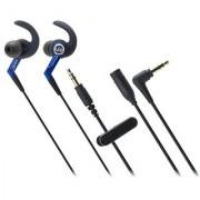 Audio Technica ATHCKP500BL Sporfit In-ear Headphones Blue