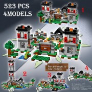 Model building kits compatible with lego 21127 18005 my worlds MineCraft The Fortress Educational toys hobbies for children