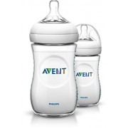 Philips Avent SCF693/17 Biberon Natural Anticoliche per Allattare in Modo Naturale, 260 ml, Trasparente