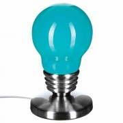 Atmosphera Lampe touch Ampoule - H. 21,5 - Turquoise
