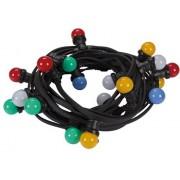 Led-Feestslinger - 11.5 M - 20 Gekleurde Led-Lampen, E27 230 VAC 50 Hz