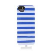 Itskins Killer Chic Chic BLUE Case - термополиуретанов калъф за iPhone 5S, iPhone 5, iPhone SE (бял-син)