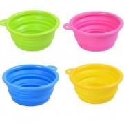 Ihopvikbar mat/vattenskål till husdjuren - Blå