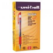 Signo Gel Grip Roller Ball Stick Gel Pen, Red Ink, Medium, Dozen