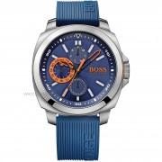 Hugo Boss Brisbane' Multifunction Slicone Strap Watch, 49mm 1513102