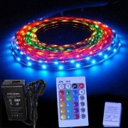 Pack Ruban LED 5M RGB SMD5050 12v - étanche télécommande 24 touches