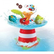 Bath Toy - Musical Duck Race with Auto Fountain Water Pump and 4 Racing Ducks
