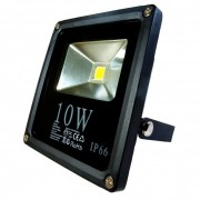 Fényvető / reflektor LED 10W, SLIM, IP66, fekete, 3000K-warm white