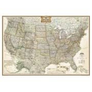 Wandkaart USA - Verenigde Staten Antiek, 111 x 77 cm   National Geographic