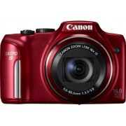 Canon SX170 IS PowerShot Fotocamera Digitale, 16 Megapixel, HD Movie, Rosso