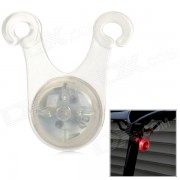Bicycle Hook Style Red Light 3 Mode Flash Warning Lamp - Translucent White