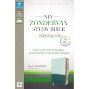 NIV, Zondervan Study Bible, Personal Size, Imitation Leather, Green/Blue, Indexed: Built on the Truth of Scripture and Centered on the Gospel Message