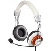 Casti cu microfon Hama HS-320 (Alb/Maro)