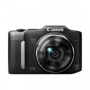 Цифров фотоапарат Canon PowerShot SX160 IS, Черен