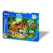 Ravensburger - Puzzle enfant - Bambi, Balou Et Simba - 3X49 Pièces