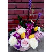 Cos cu flori de primavara CF001