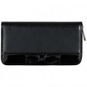 Nagy női pénztárca VALENTINI - 100-866 Fekete