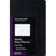 Moleskine 2011 Weekly Diary/Planner: Horizontal Layout, Address Book Insert, Black