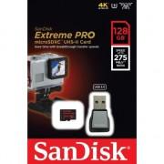 SANDISK EXTREME PRO microSDXC 128GB 275MB/s Class 10 U3 UHS-II + adapter USB 3.0