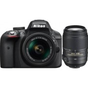 Aparat Foto DSLR Nikon D3300, 24.2MP + Obiectiv A-FP 18-55mm VR + Obiectiv 55-300 VR