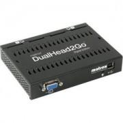 Външна видеокарта за едновременна работа на 2 монитора с DVI вход- MATROX-D2G-A2D-IF, 1xVGA in/2xDVI I out